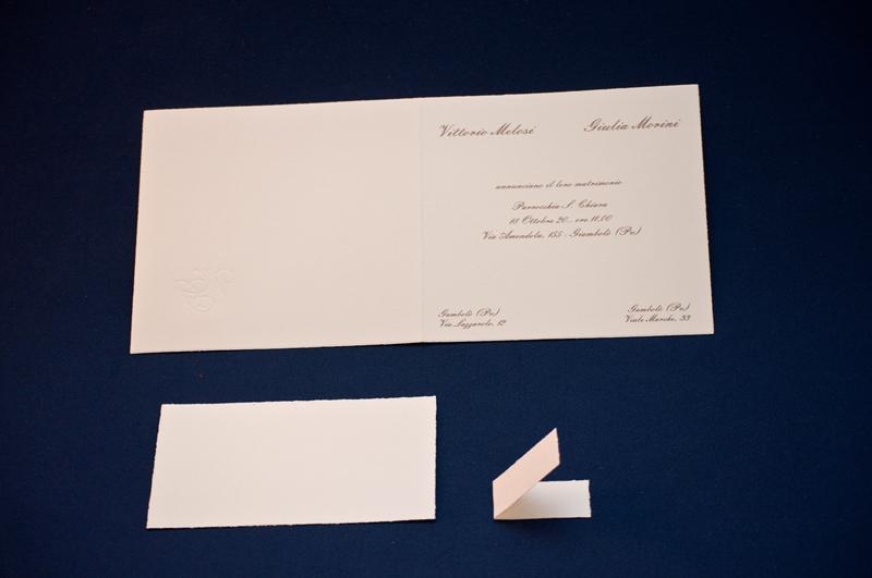 Formato Partecipazioni Matrimonio.Partecipazione Pamela Partecipazione Classica Su Cartoncino