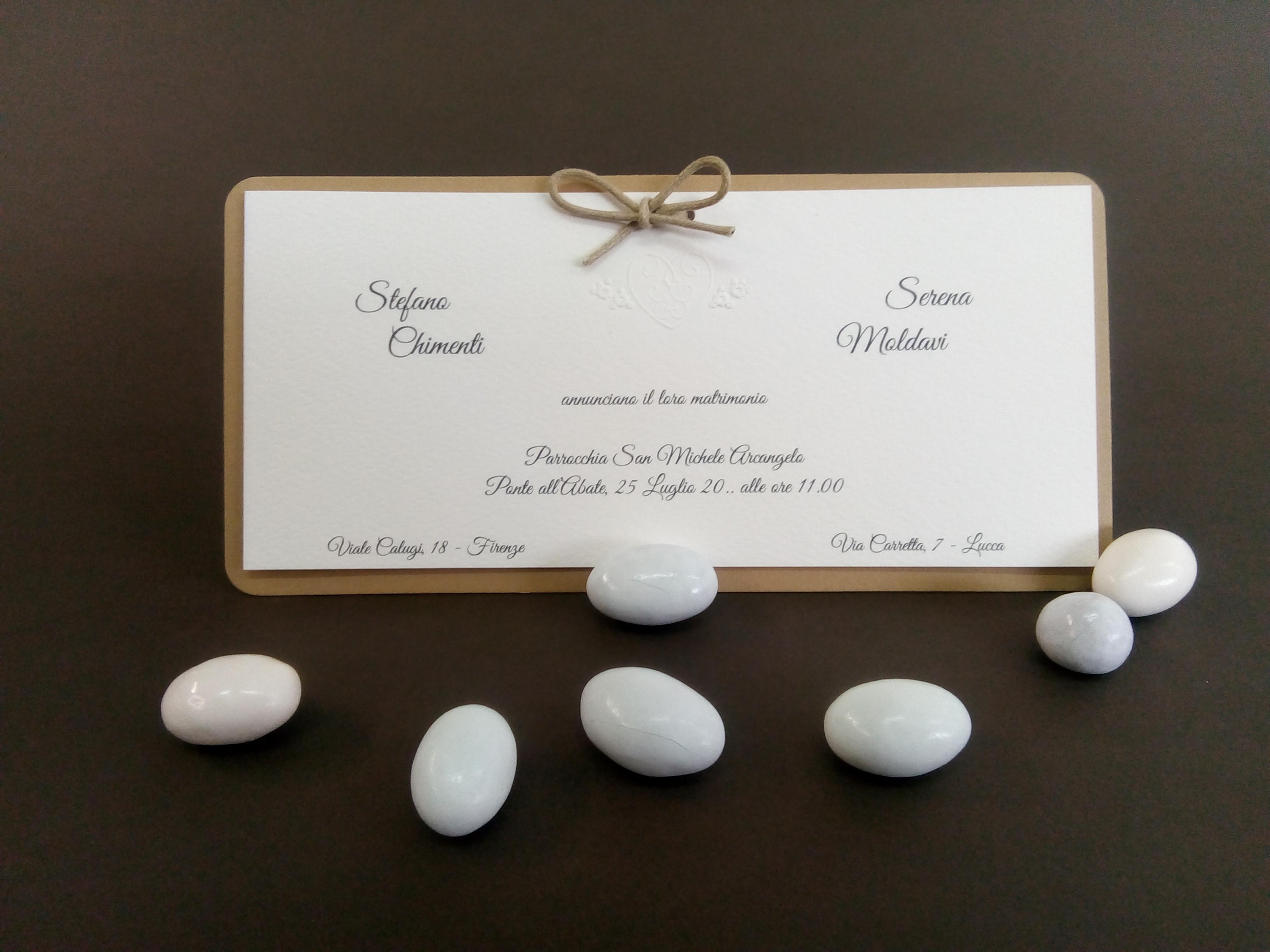 Partecipazioni Matrimonio Firenze.Partecipazione Morgana Partecipazione Realizzata Con Cartoncino