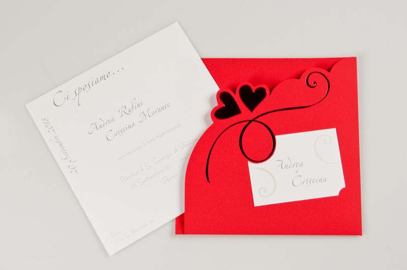 Partecipazione sandra partecipazione realizzata su carta for Partecipazioni nozze on line