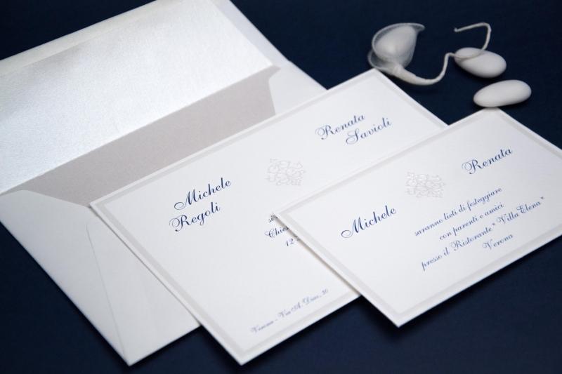 Partecipazioni Matrimonio Bianche.Partecipazione Di Matrimonio Caterina Partecipazione In