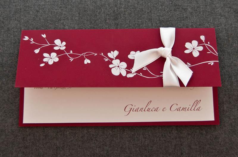 Matrimonio In Bordeaux : Partecipazione maria su cartoncino