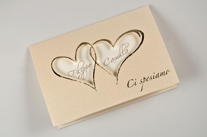 Partecipazioni Di Matrimonio Online.Partecipazione Emma Partecipazione Semplice Con Cartoncino